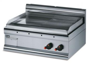 Lincat GS7/R/N Nat Gas Half Ribbed Griddle 750mm Wide 7kw