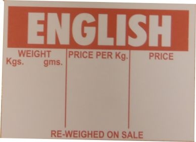 English Display Tickets