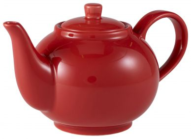Royal Genware Red Teapot 45cl (15.75oz) (6 Pack)