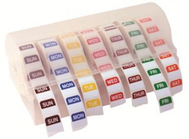 Round Day Dot Labels And Dispenser Set
