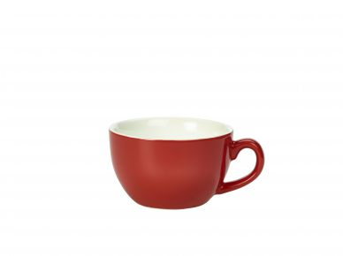 Royal Genware Red Bowl Shaped Cup 25cl (8.75oz) (6 Pack)