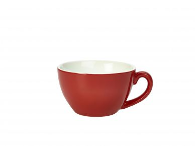 Royal Genware Red Bowl Shaped Cup 34cl (12oz) (6 Pack)