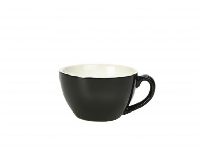 Royal Genware Black Bowl Shaped Cup 34cl (12oz) (6 Pack)