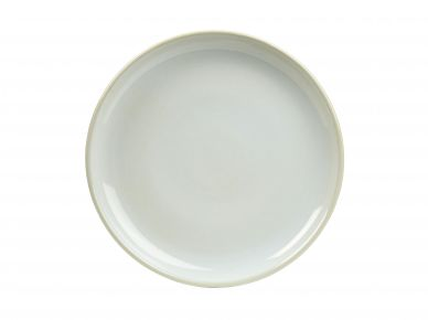 Genware White Rustic Stoneware Coupe Plate 24cm (6 Pack)