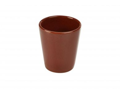 Genware Red Rustic Stoneware Conical Cup 8.5cm x 10cm (12 Pack)