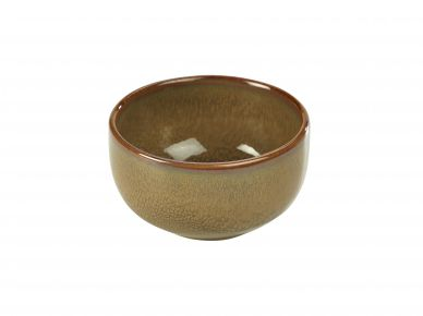 Genware Brown Rustic Stoneware Round Bowl 12.5cm (6 Pack)
