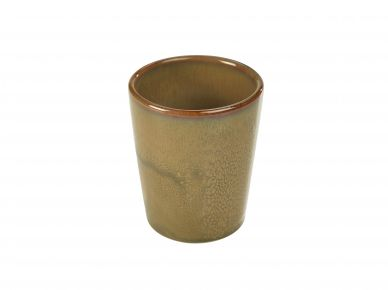 Genware Brown Rustic Stoneware Conical Cup 8.5cm x 10cm (12 Pack)