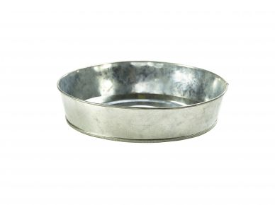 Galvanised Steel Round Serving Platter 22cm Diameter