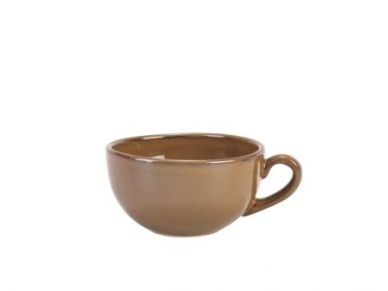 Genware Brown Rustic Terra Stoneware Bowl Shaped Cup 30cl (10.5oz) (12 Pack)