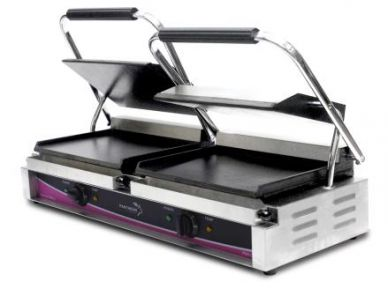 Pantheon Large Double Contact/Panini Grill Smooth CGL2S