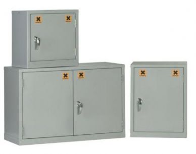 Grey Mini COSSH Cabinet 760mm H x 457mm W x 457mm D