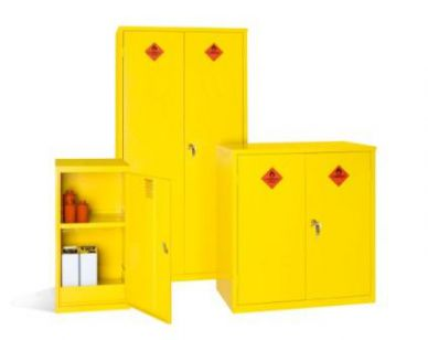 Yellow Hazardous Substance Cabinet 1000mm H x 915mm W x 457mm D