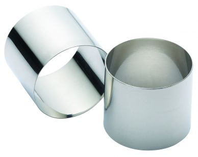 Kitchen Craft Stainless Steel Extra Deep Cooking Rings 7x6cm, Set of Two, Blister Packed