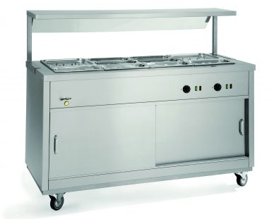 Parry HOT181/2BM Hot Cupboard with 1/2 Bain Marie Top 2 Plugs