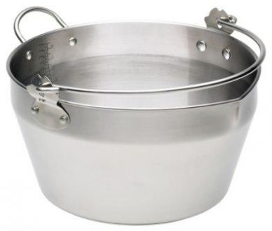 Kitchen Craft Home Made Stainless Steel 9 Litre Maslin Pan with Handle