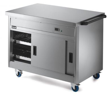 Lincat P8P3 Mobile Hot Cupboard With Plain Top (Standard) 1125mm Wide x 800mm Deep x 900mm High
