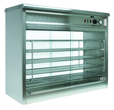 Parry PC140G Pie Master Pie Cabinet with Glass Back 1.9kW