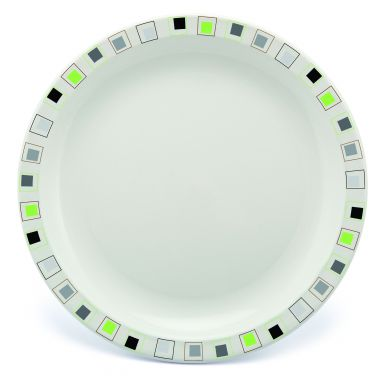 Harfield Polycarbonate Patterned Plates 23cm (12 Pack)