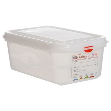 GN Storage Container 1/4 100mm Deep 2.8L (6 Pack)