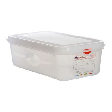 GN Storage Container 1/3 100mm Deep 4L (6 Pack)