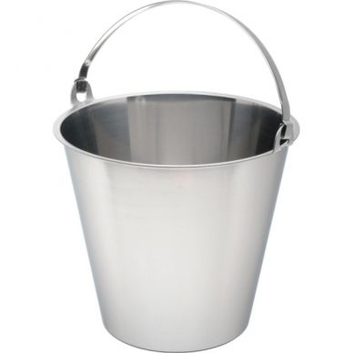 Swedish Stainless Steel Bucket 12 Litre Graduated