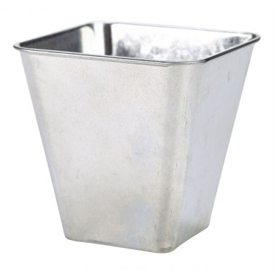 Galvanised Steel Flared Square Serving Tub 50cl