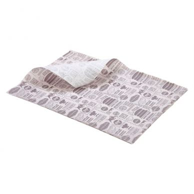 Greaseproof Paper Steak House Design 25cm x 35cm