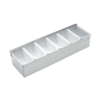 Stainless Steel Bar Garnish Dispenser 6 Compartment