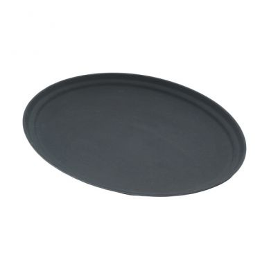 Oval Non Slip Tray Black 685mm x 558mm
