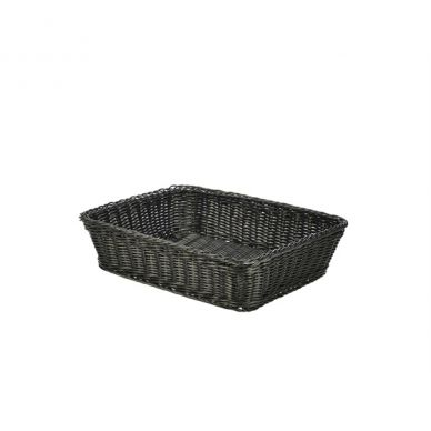 Black Polywicker Display Basket 36.5cm x 29cm x 9cm