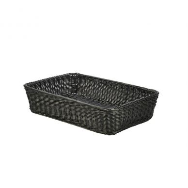 Black Polywicker Display Basket 46cm x 31cm x 10cm