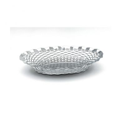 Stainless Steel Oval Basket 11.3/4