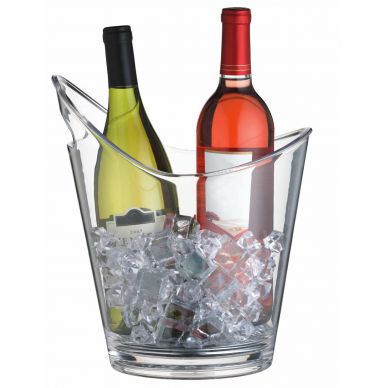 Bar Craft Clear Acrylic Drinks Pail/Wine Cooler 25cm x 28cm
