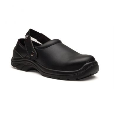 Unisex Black Safety Clogs