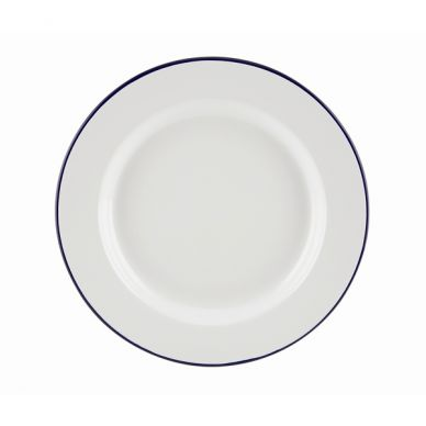 Blue And White Enamel Wide Rim Plate 26cm