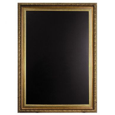 Framed Blackboard Gold Coated Frame 85cm x 65cm