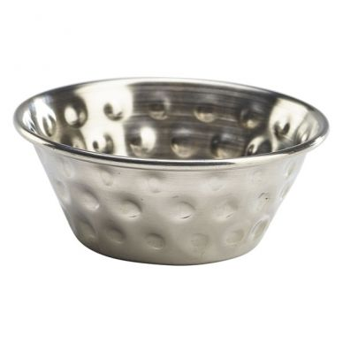1.5oz Stainless Steel Hammered Ramekin (6 Pack)