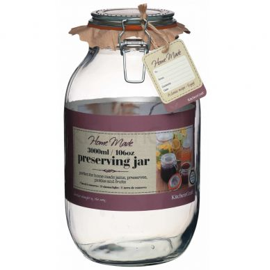 Home Made Glass 3 Litre Preserving Jar