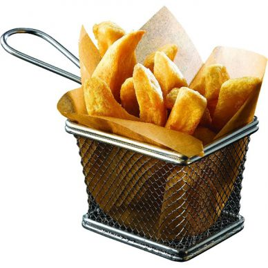 Stainless Steel Serving Basket 10cm x 8cm x 7.5cm