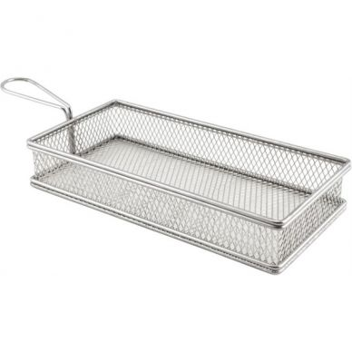 Stainless Steel Serving Basket 26cm x 13cm x 4.5cm