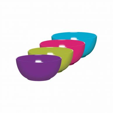 Kitchen Craft Colourworks Set of 4 Melamine Bowls