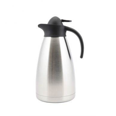 Genware Stainless Steel Contemporary Vacuum Jug 2.0L