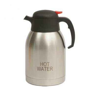 Hot Water Inscribed Stainless Steel Vacuum Jug 2.0L
