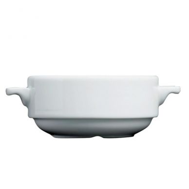 Royal Genware Stacking Lugged Soup Bowl 25cl (8.75oz) (6 Pack)
