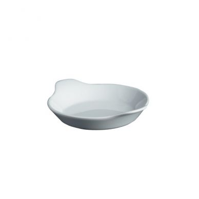 Royal Genware 18 cm Round White Eared Dish (6 Pack)