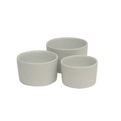 Royal Genware 9 cm Contemporary Smooth White Ramekin (6 Pack)