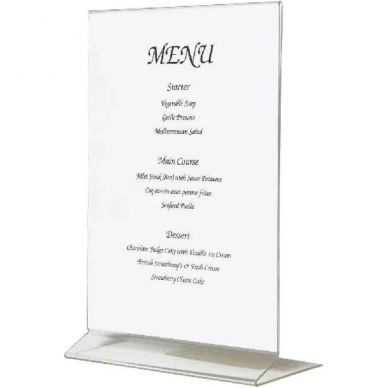 A4 Upright Acrylic Menu Holder