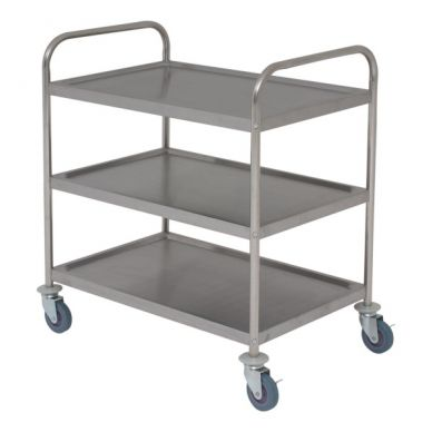 Fully Welded 3 Tier Stainless Trolley (860mmx930x530)