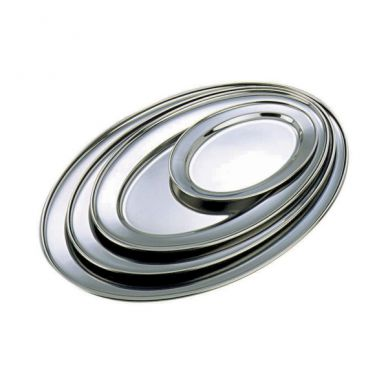 Stainless Steel Oval Tray 300mm x 220mm