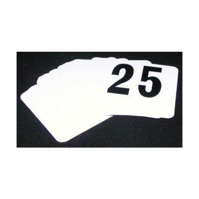 Table Numbers 1-25